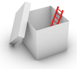 Your uniqueness allows you to climb out of the box.