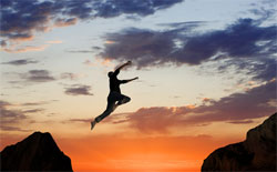 Your inner well-being makes a leap of faith exciting rather than scary